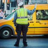 Traffic policeman in New York City Stock Images