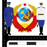 Traffic policemen in the USSR Royalty Free Stock Photography