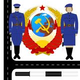 Traffic policemen in the USSR-2 Royalty Free Stock Photos
