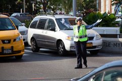 Traffic policewoman in New York City Stock Images