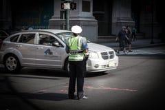 Traffic policewoman in New York Stock Photo