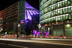Traffic at Potsdamer Platz. Berlin, Germany, May 10 2013: traffic at Potsdamer Platz at night time Stock Photo