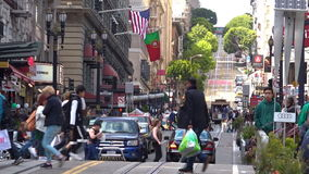 Traffic on Powell street in San Francisco California
