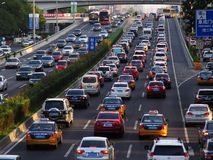 Traffic problems in Beijing Royalty Free Stock Photos