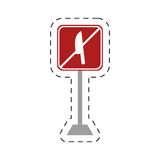 Traffic prohibited knife arm weapon Stock Photography