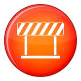 Traffic prohibition sign icon, flat style Royalty Free Stock Images