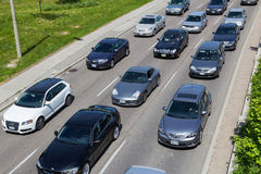 Traffic queue Royalty Free Stock Photos