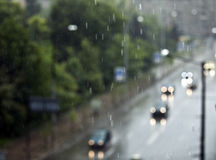 Traffic in the rain Royalty Free Stock Images