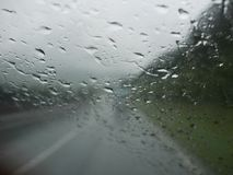 Traffic rain Royalty Free Stock Image