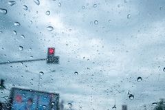 Traffic in the rainy season Royalty Free Stock Photography