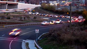 Traffic ramp beltway stock video footage