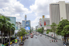 Traffic on ratchaprasong road Stock Photography
