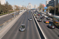 Traffic on 3rd Ring Road in Beijing. China Stock Photos