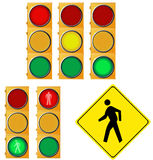 Traffic related signs collection Stock Image
