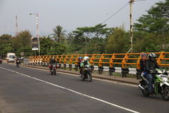 Traffic by the River at Bogor Royalty Free Stock Image