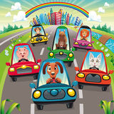 Traffic on the road Royalty Free Stock Photography