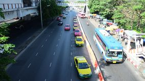 Traffic on the road in Bangkok Thailand Royalty Free Stock Photos