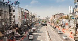Traffic on Road in Bangkok stock video