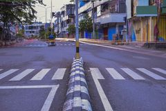 Traffic road in the city royalty free stock image