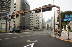 Traffic road and cityscape with modern building of tokyo city ne Royalty Free Stock Photos