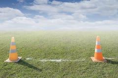 Traffic road cone pylon Stock Images