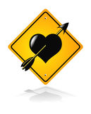 Traffic road heart sign Stock Photos