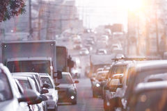 Traffic on the road Stock Photography