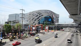 Traffic on the road at Mass Rapid Transit Authority of Thailand stock video footage