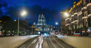 Traffic on road, Moscow, Russia stock video footage