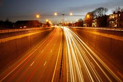Traffic Road at Night Royalty Free Stock Image