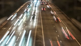 Traffic on the road - night timelapse. 1920x1080, 1080p, Full HD stock video footage