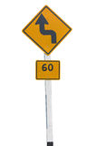 Traffic road sign isolated on white background Stock Photography