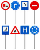 Traffic road sign set Stock Photography