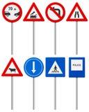 Traffic road sign set Stock Photo
