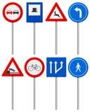 Traffic road sign set Royalty Free Stock Image