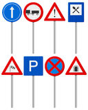 Traffic road sign set Royalty Free Stock Photos
