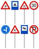 Traffic road sign set Royalty Free Stock Photography