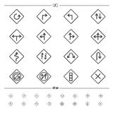 Traffic road sign vector Stock Photos