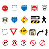 Traffic and road signs Royalty Free Stock Photo