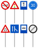 Traffic road sign set Stock Image