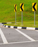 Traffic road signs to the right Royalty Free Stock Images
