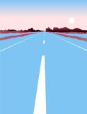 Traffic road with sun nature Royalty Free Stock Photo