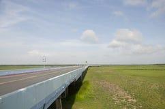 Traffic road on Thalesap Songkhla Bridge(Ekachai bridge) or Than Stock Images