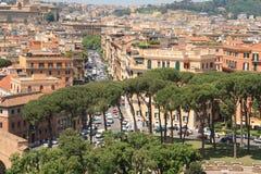 Traffic in Rome Stock Image
