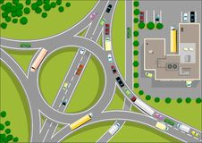 Traffic roundabout Royalty Free Stock Photography