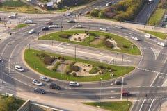Traffic Roundabout Stock Image