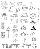Traffic rules vector set Royalty Free Stock Image