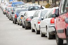 Traffic during the rush hour Royalty Free Stock Photos