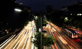 Traffic in the rush hour in São Paulo, the biggest city in Brazil royalty free stock photography