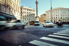 Traffic during rush hours in the city Royalty Free Stock Photos